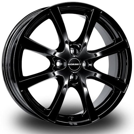 Borbet LV4 5.5x14 4x108 ET43 DIA63.4 Black