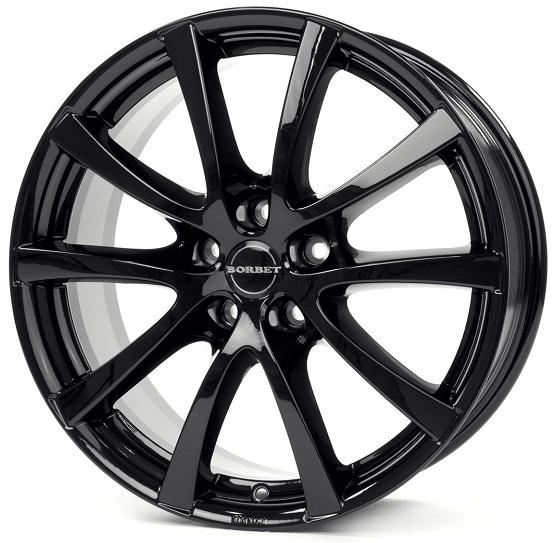 Borbet LV5 7x16 5x112 ET45 DIA (black glossy)