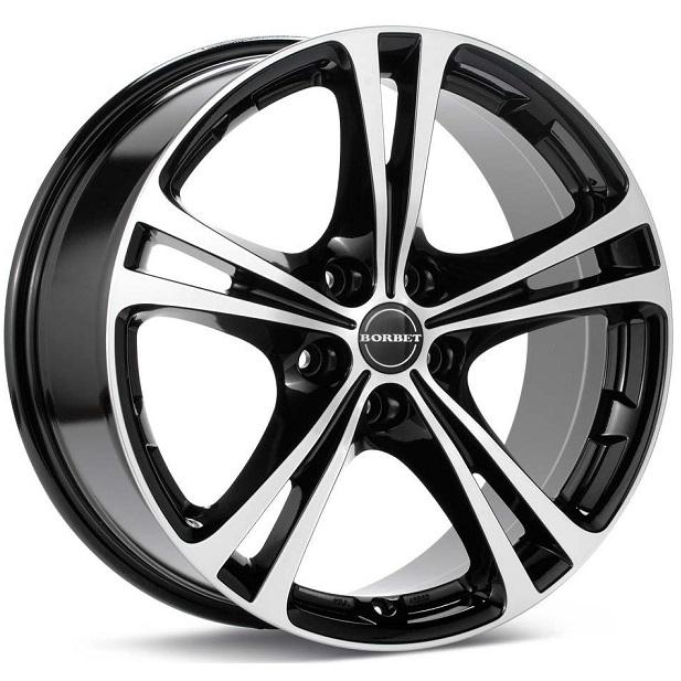 Borbet XL 8x18 5x110 ET40 DIA72,6 (black front polished)
