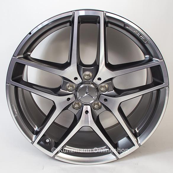 Mercedes OEM A2924012900 10x21 5x112 ET52 DIA66,6 (black polished)