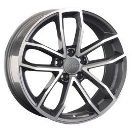 Replay Audi (A154) 8.5x18 5x112 ET29 DIA66.6 Gun metal full polish (Темно-серый с полированным ободом)