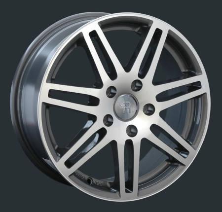Replay Audi (A25) 10x21 5x130 ET44 DIA71.6 Gun metal full polish (Темно-серый с полированным ободом)