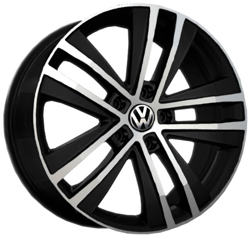Replay Volkswagen (VV44) 7.5x17 5x112 ET47 DIA57.1 Black full polish