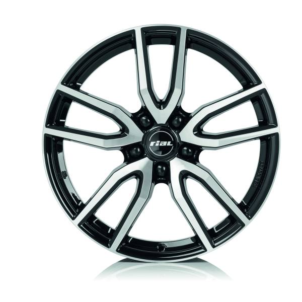 Rial Torino 8x19 5x114,3 ET40 DIA70,1 (diamond black front polished)