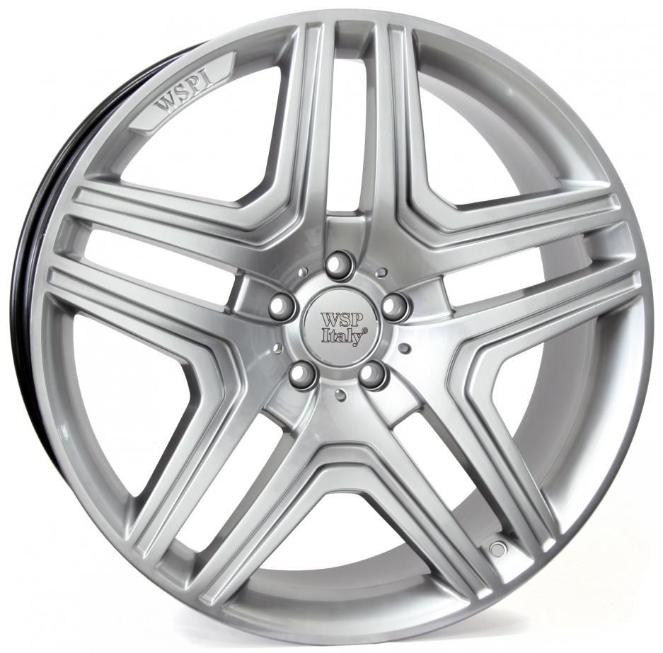 WSP Italy Mercedes (W766) AMG Nero 10x20 5x112 ET46 DIA66,6 (hyper silver)