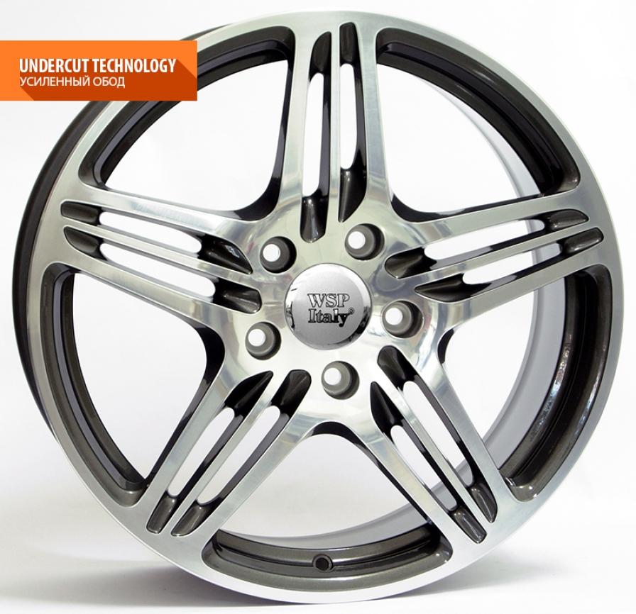 WSP Italy Porsche (W1050) Philadelphia 12x20 5x130 ET45 DIA71,6 (anthracite polished)